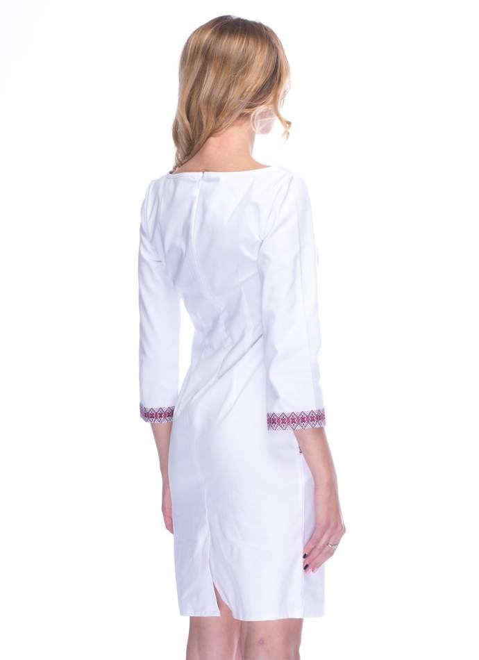 Белое платье-вышиванка, арт. 1002р.3/4
