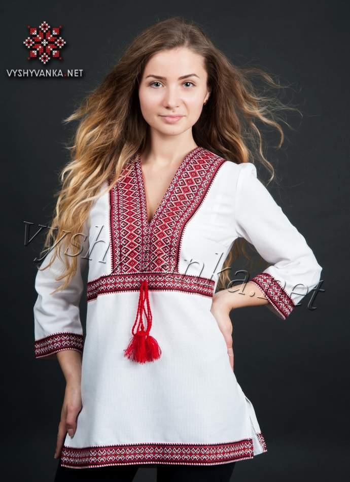 Вишиванка туніка жіноча, арт. 0010