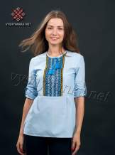 Сорочка вишиванка жіноча блакитна, арт. 0049