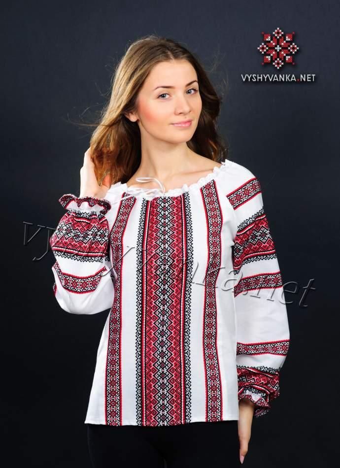 Ткана вишиванка жіноча, арт. 0057