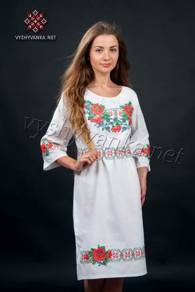 Плаття в українському стилі з маками, арт. 0074-б