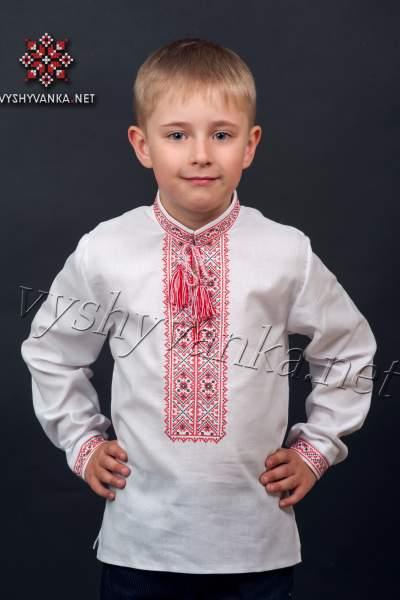 Современная вышиванка для мальчика, арт. 0103
