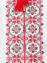 Вышитая крестиком рубашка для мальчика, арт. 0108