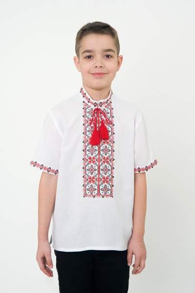 Вышиванка с коротким рукавом для мальчика, арт. 0108к.р.