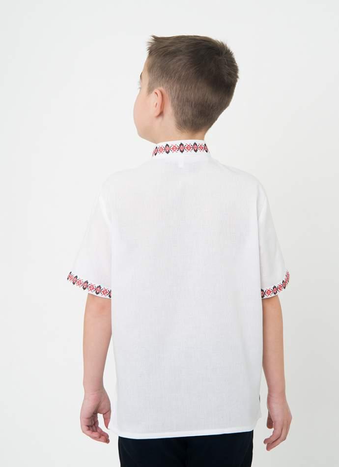Вишиванка з коротким рукавом для хлопчика, арт. 0108к.р.