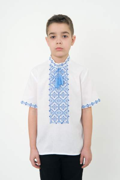 Вышиванка для мальчика с коротким рукавом, арт. 0109к.р.
