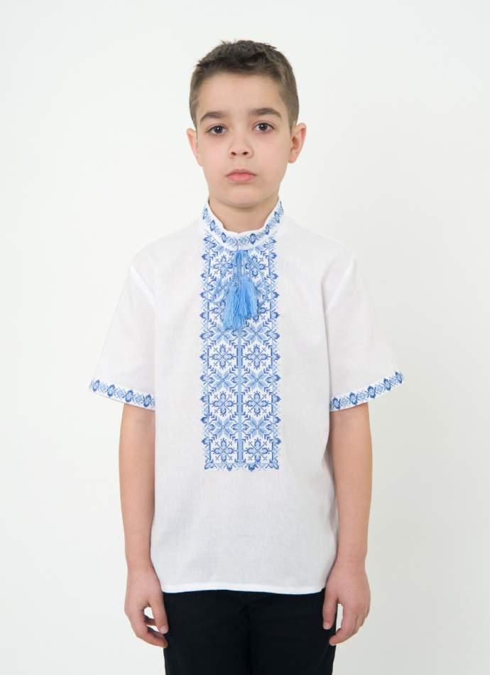 Вишиванка для хлопчика з коротким рукавом, арт. 0109к.р.
