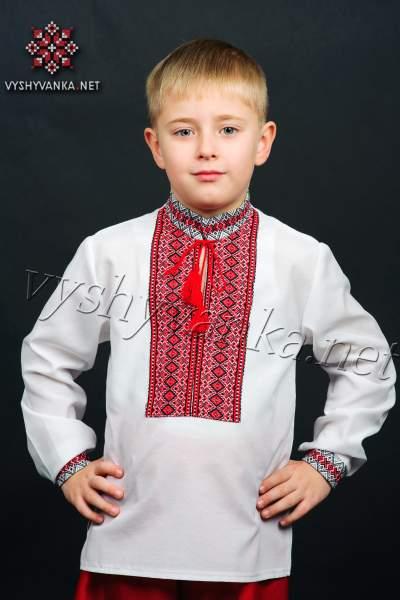 Вишиванка для хлопчика ткана нашивка, арт. 0111