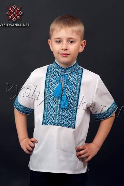 Вишиванка з коротким рукавом для хлопчика, арт. 0112к.р.