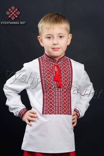 Вышиванка для мальчика (тканая нашивка), арт. 0113