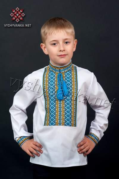 Вишиванка в національних тонах для хлопчика, арт. 0117