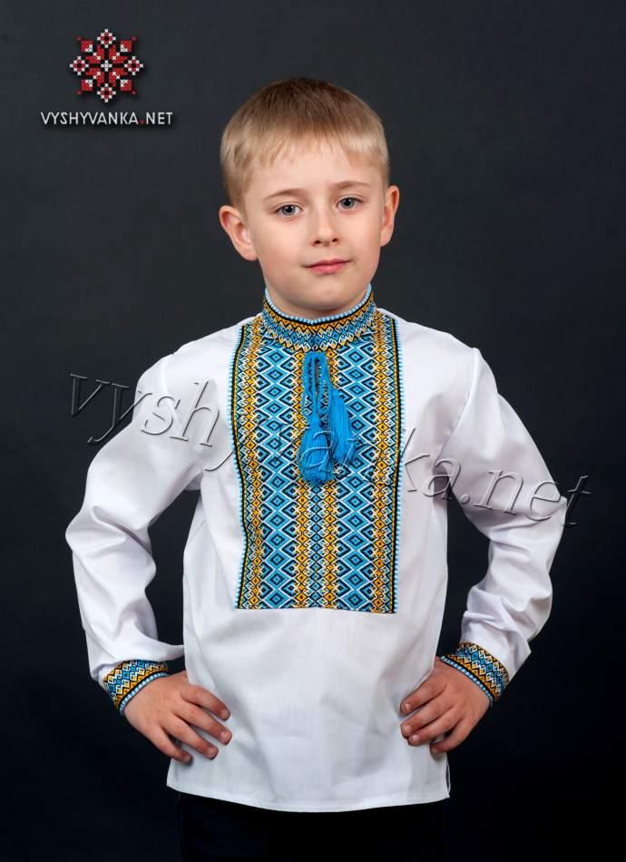 Вышиванка в национальных тонах для мальчика, арт. 0117