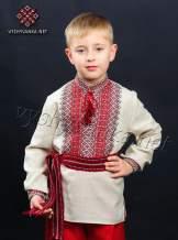 Вишиванка з нашивкою на хлопчика, арт. 0128