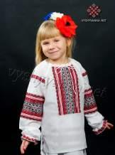 Украинская вышиванка для девочки, арт. 0130