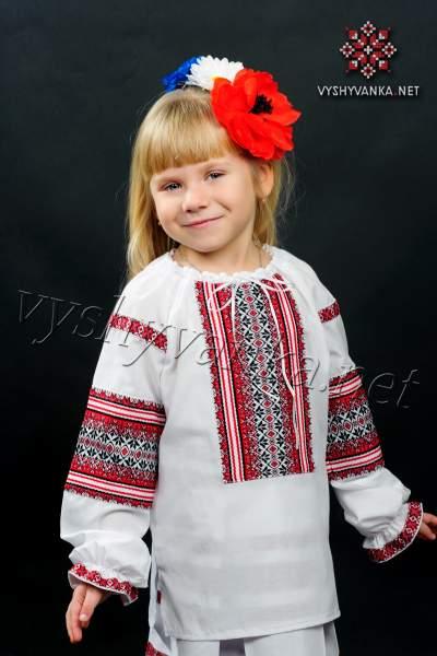 Українська вишиванка для дівчинки, арт. 0130