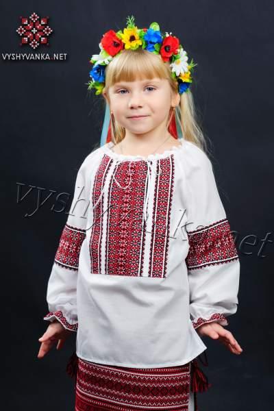 Вишиванка в українському стилі на дівчинку, арт. 0134