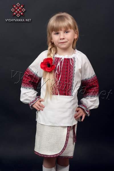 Дитяча вишиванка для дівчинки, арт. 0148
