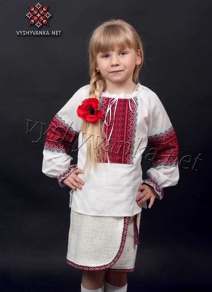 Детская вышиванка для девочки, арт. 0148
