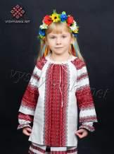 Вышиванка на девочку тканая, арт. 0151