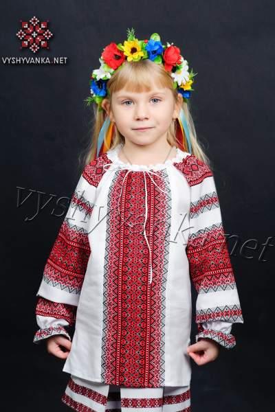 Вишиванка на дівчинку ткана, арт. 0151