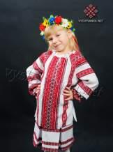 Вишиванка на дівчинку з домотканого полотна, арт. 0152