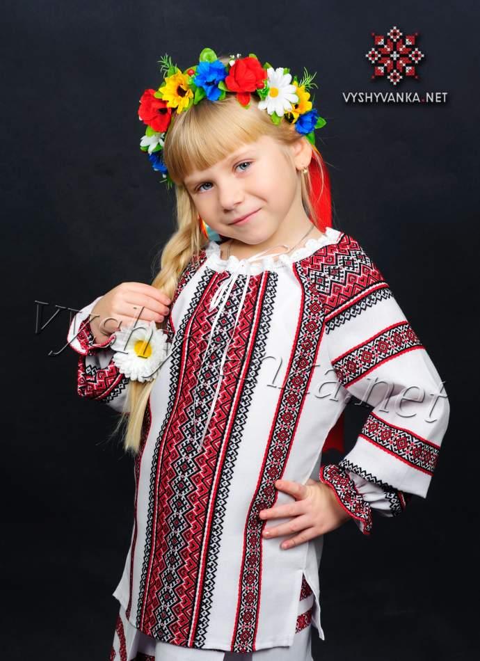 Вишиванка для дівчинки ткана, арт. 0154