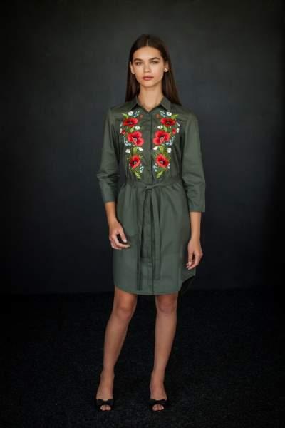 Сукня сорочка з вишивкою маки, арт 4503