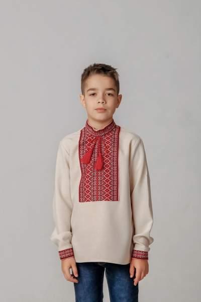Вышиванка для мальчика (тканая нашивка), арт. 4418