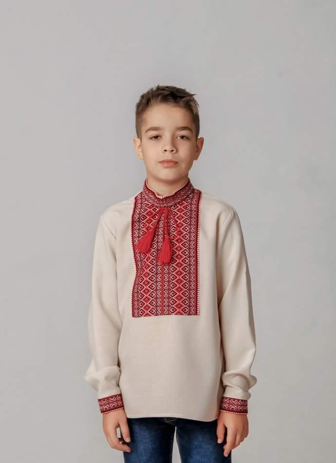 Вишиванка для хлопчика (ткана нашивка), арт. 4418