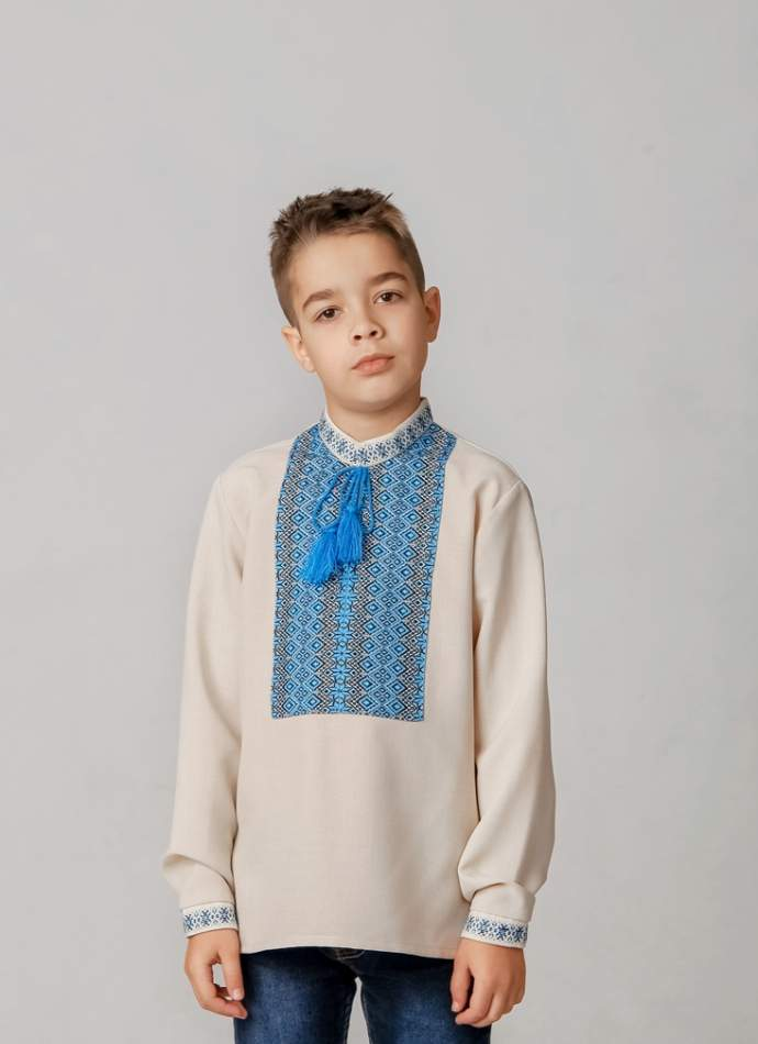 Вишиванка для хлопчика (ткана нашивка), арт. 4419