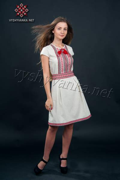 Плаття з вишивкою в українському стилі, арт. 1013