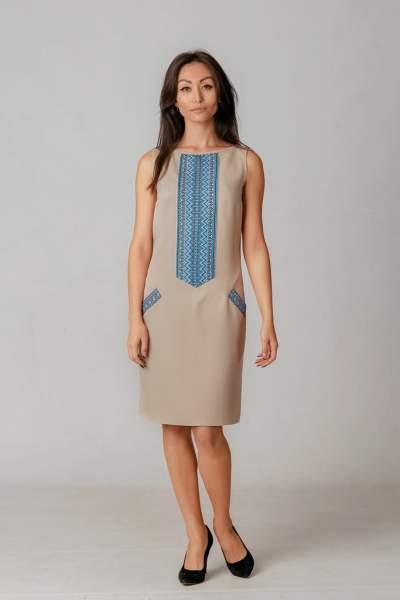 Літнє плаття з вишивкою тканою, арт. 1018