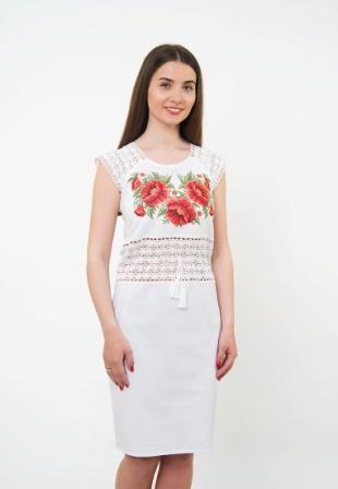 Сукня-вишиванка з мереживом, арт. 1019