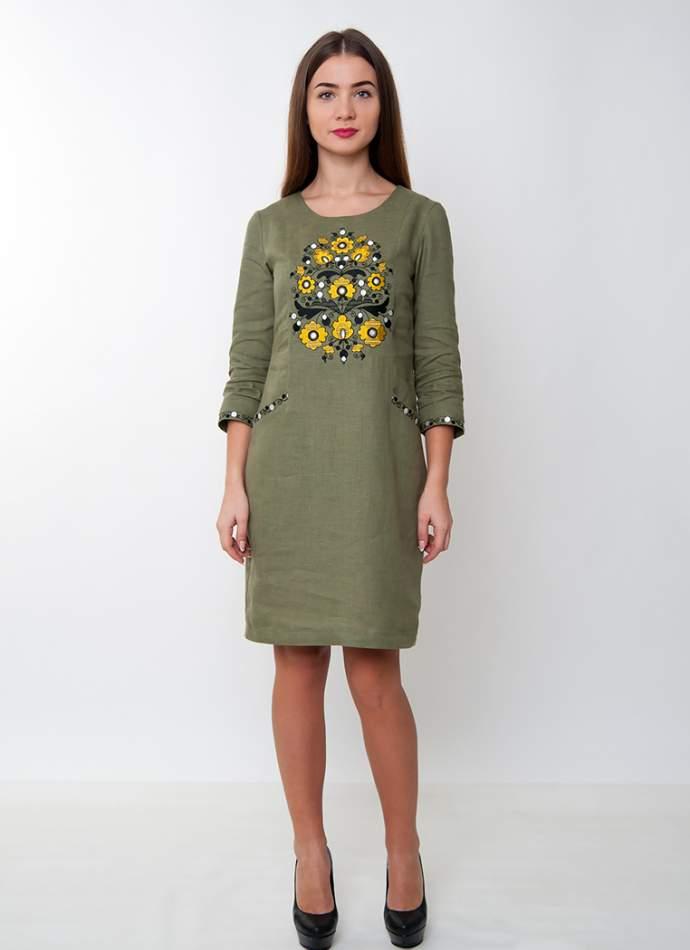 Лляна сукня з вишивкою, арт. 4165