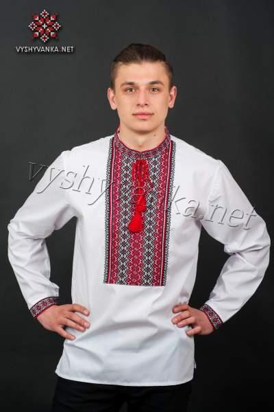 Вишиванка чоловіча з тканою вишивкою, арт. 2018