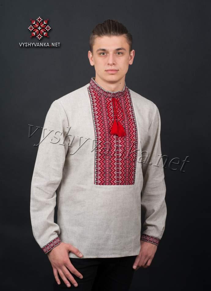 Украинская вышиванка мужская, арт. 2027