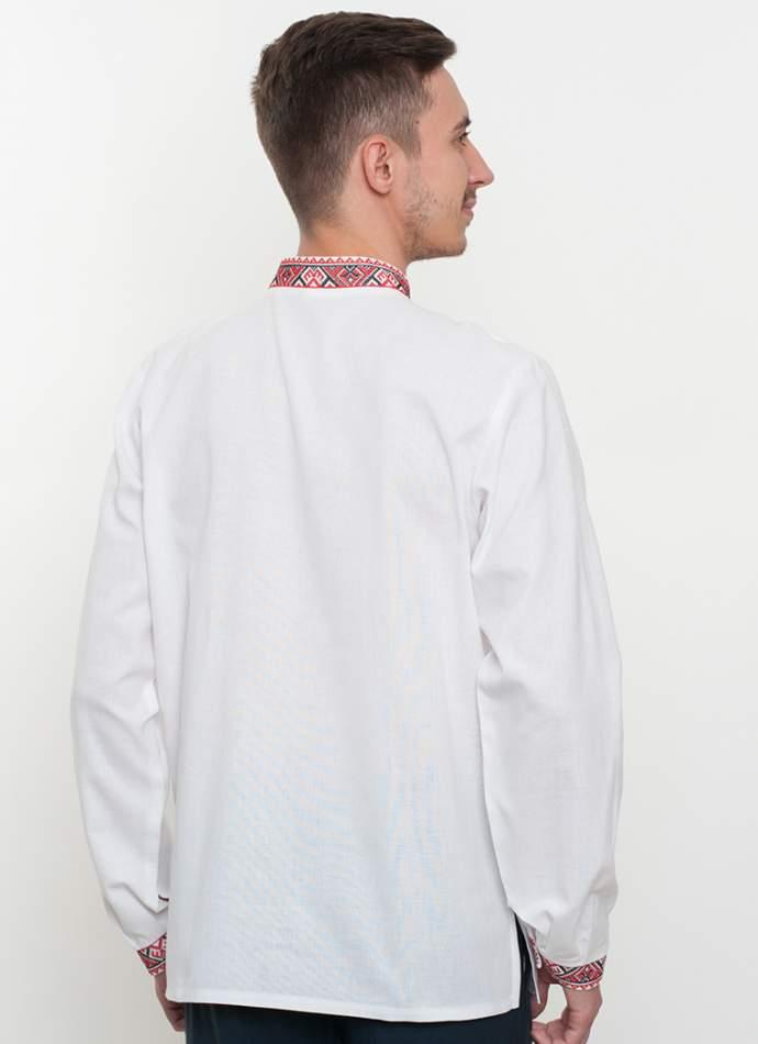 Вышиванка мужская белая, арт. 2061