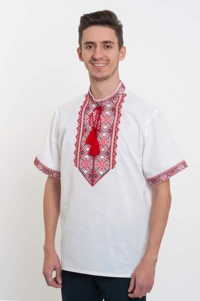 Вышиванка для мужчин белая, арт. 2061к.р.