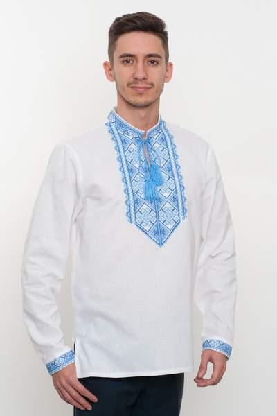 Белая вышиванка мужская, арт. 2062