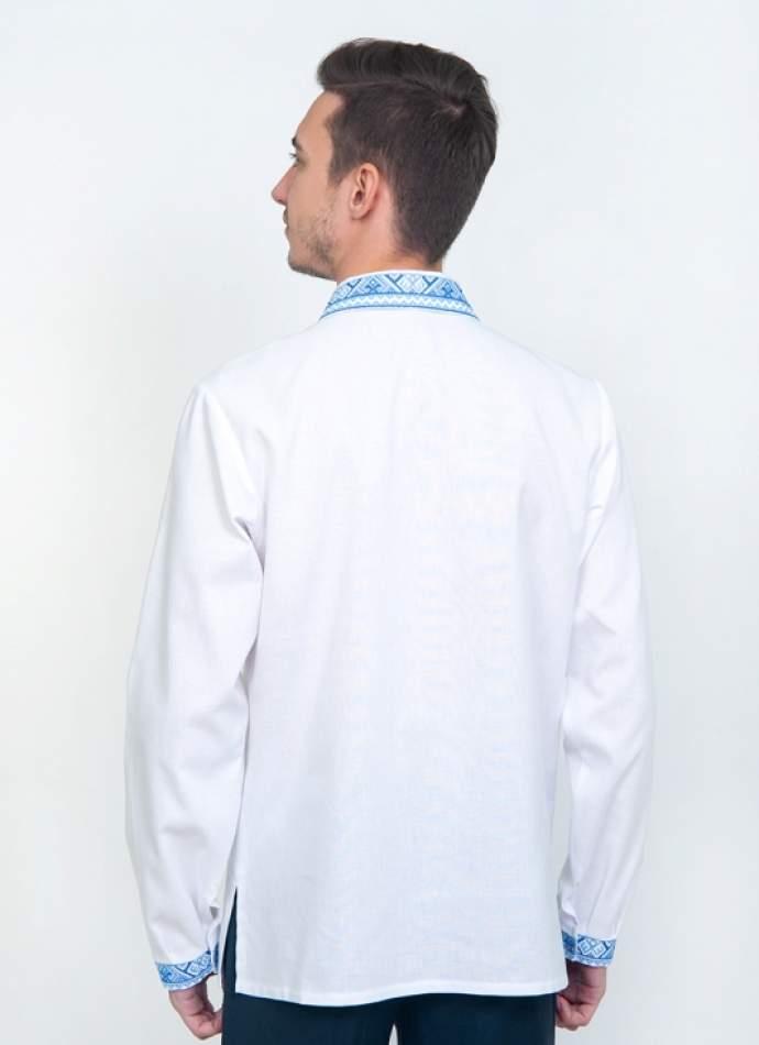 Біла вишиванка з коміром, арт. 2062комір