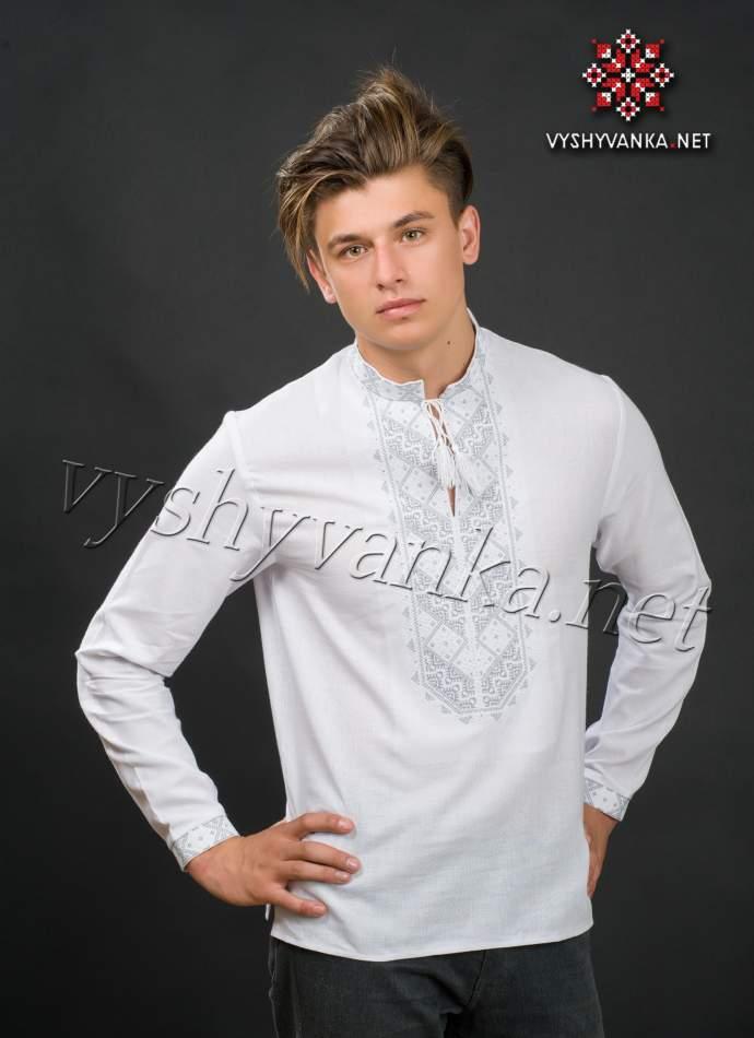 Біла сорочка з вишивкою чоловіча, арт. 2070