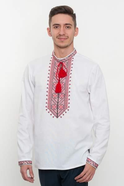 Белая вышиванка мужская, арт. 2076