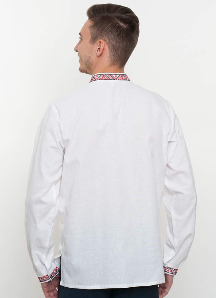 Біла вишиванка чоловіча, арт. 2076