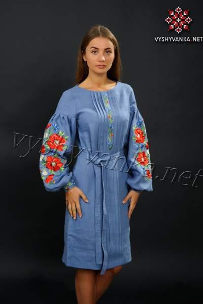 Дизайнерське вишите плаття в українському стилі, арт. 4122