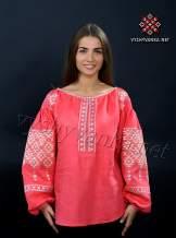 Лляна жіноча вишиванка червона, арт. 4132