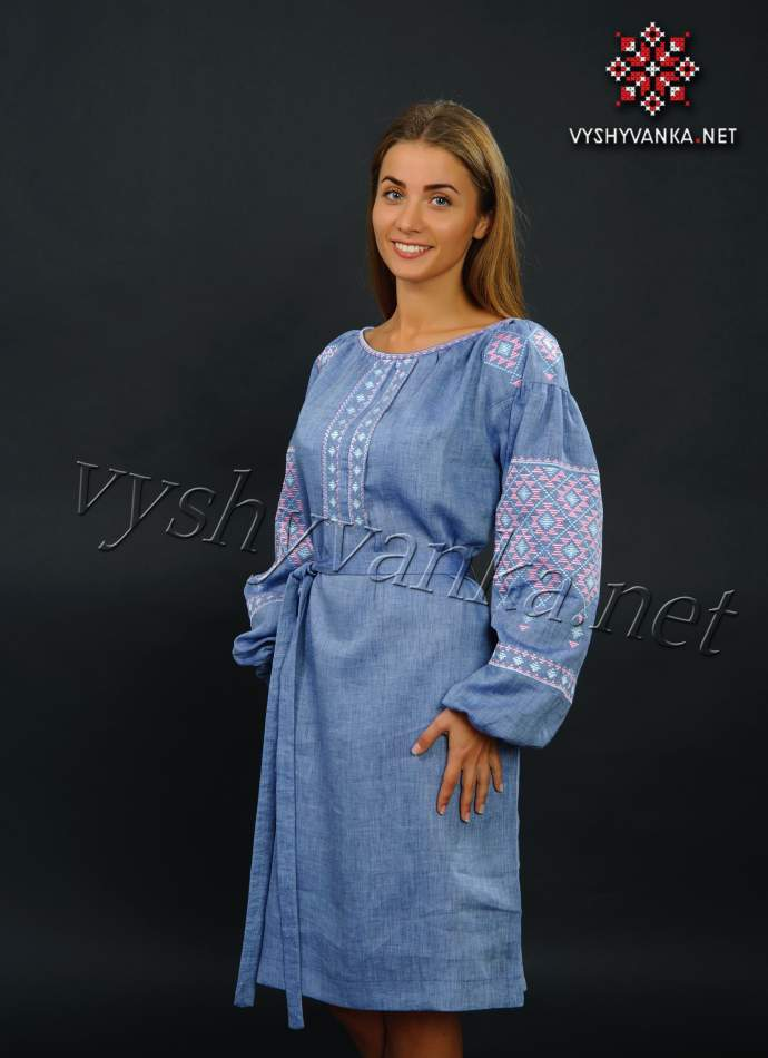 Лляна сукня з вишивкою дизайнерська, арт. 4145