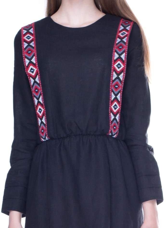 Вышитое платье на льне, арт. 4163