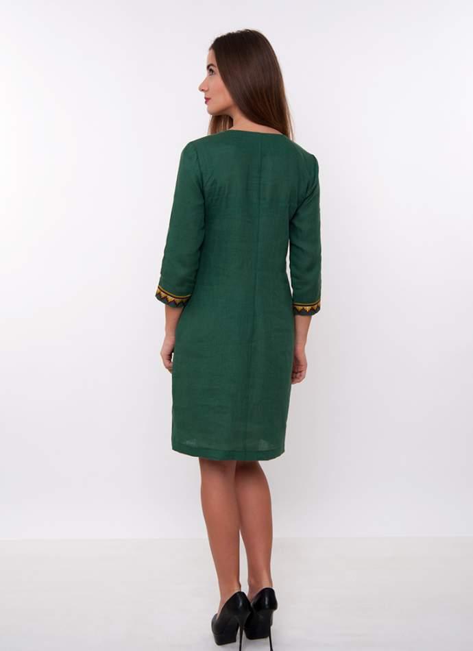 Зелена сукня з вишивкою, арт. 4167