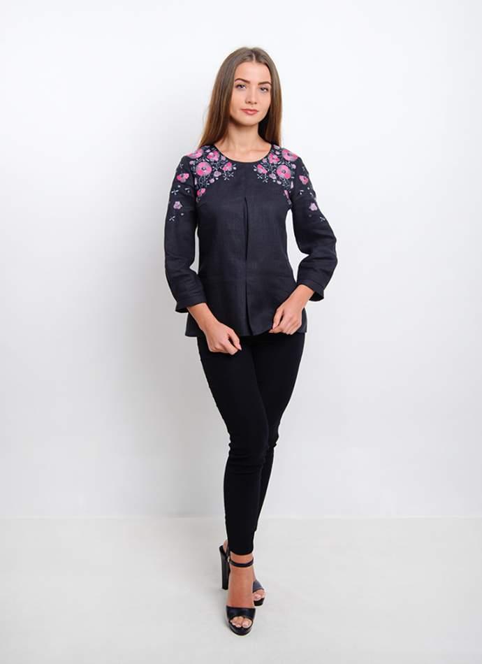 Блузка з квітковою вишивкою (вишиванка) арт. 4171