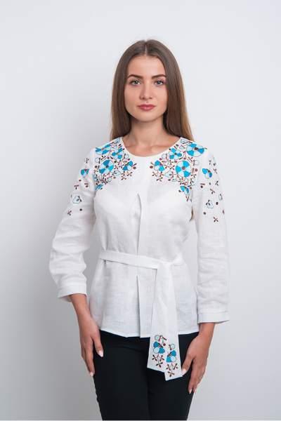 Вышитая блузка с цветами (вышиванка) арт. 4172